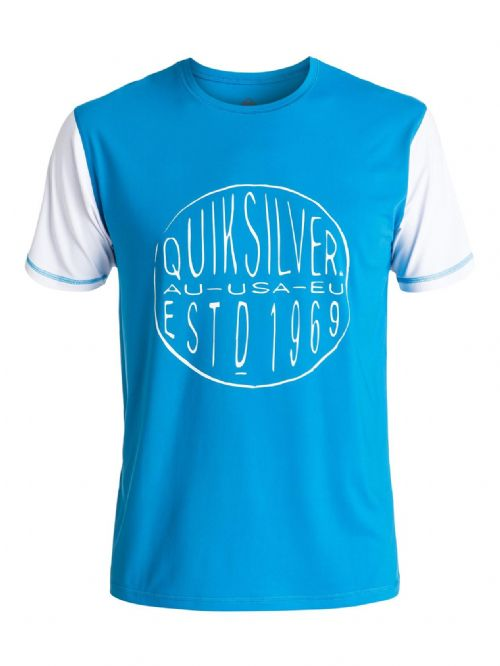 QUIKSILVER MENS RASH T SHIRT.LAST CALL UPF50 SUN PROTECTION VEST TOP 7S/054/BNLO